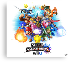 Super Smash Bros. for Wii U [Full Art] Canvas Print