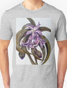 Wild Blue: Amaryllis, by Alma Lee Unisex T-Shirt