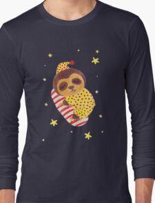 Sleeping Like a Sloth Long Sleeve T-Shirt