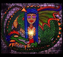 Samatha Calming the Dragon by Surrealfantasy