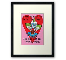 Killer Klown Love Framed Print