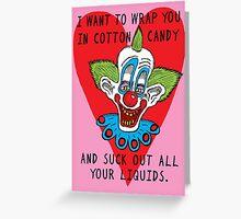 Killer Klown Love Greeting Card