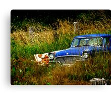 Abandoned Blue #1 Canvas Print