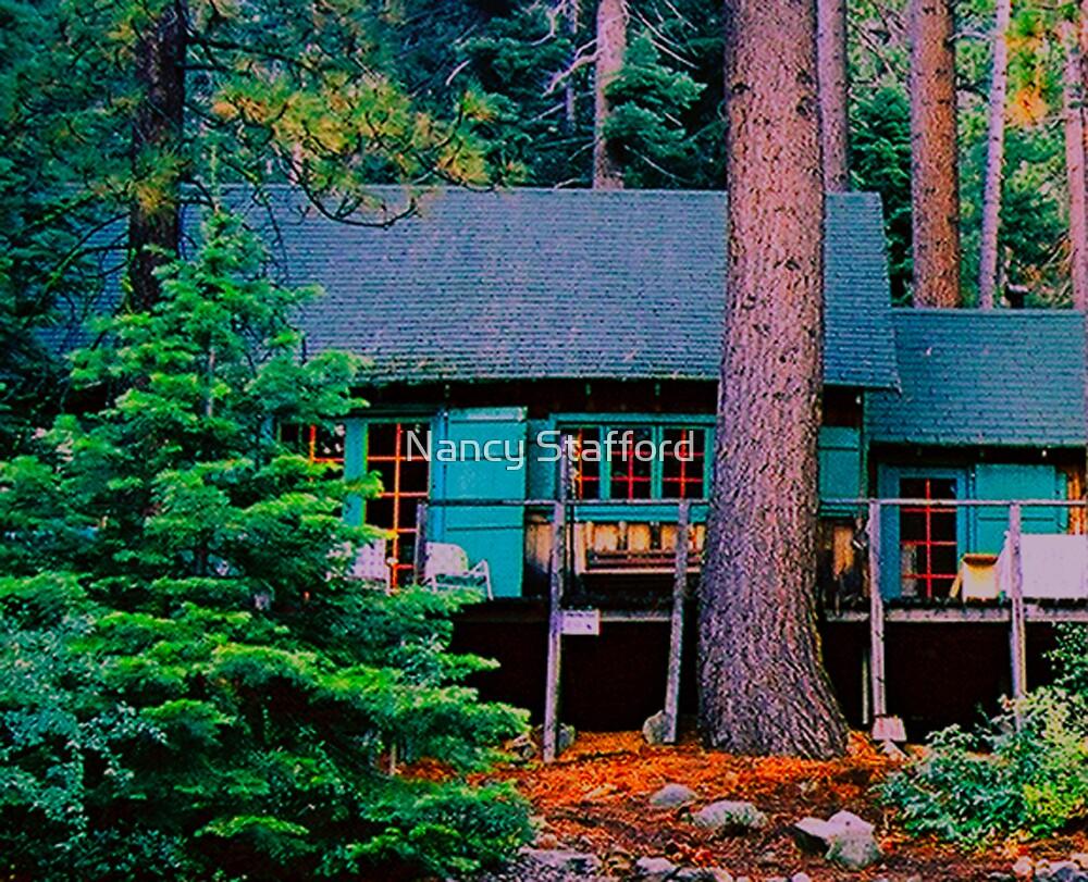 Fallen Leaf Lake Cabin..  by Nancy Stafford