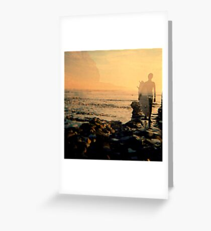 Sunday Surfer Greeting Card