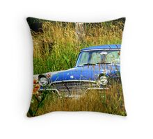 Abandoned Blue #3 Throw Pillow