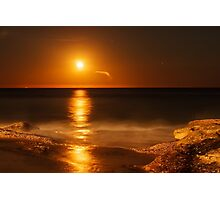 Maroubra Moon Photographic Print