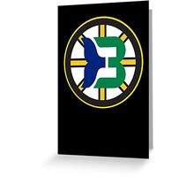 Boston Whalers - Hartford Bruins Greeting Card