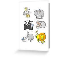 Bluebird visits Zoo Greeting Card