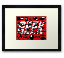 Geek My Ride Framed Print