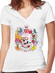 El Dia de Los Muertos Women's Fitted V-Neck T-Shirt