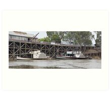 Historic inland port of Echuca, Australia Art Print