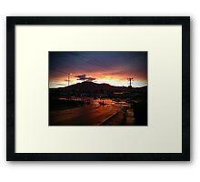 Hobart Sunset Framed Print