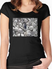 Bowl of TARDIS Women's Fitted Scoop T-Shirt