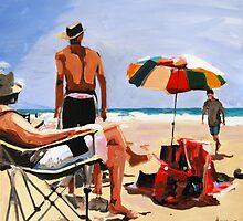 The Germans on Rainbow Beach by Anna Bartlett