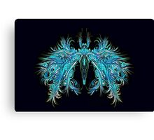 Fantasy Insect, Teal Moth Canvas Print
