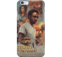 Because the Internet Poster Childish Gambino iPhone Case/Skin