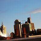 Melbourne Skyline by HanLoosschilder