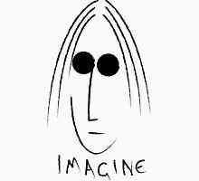 Imagine - John Lennon - Black Unisex T-Shirt