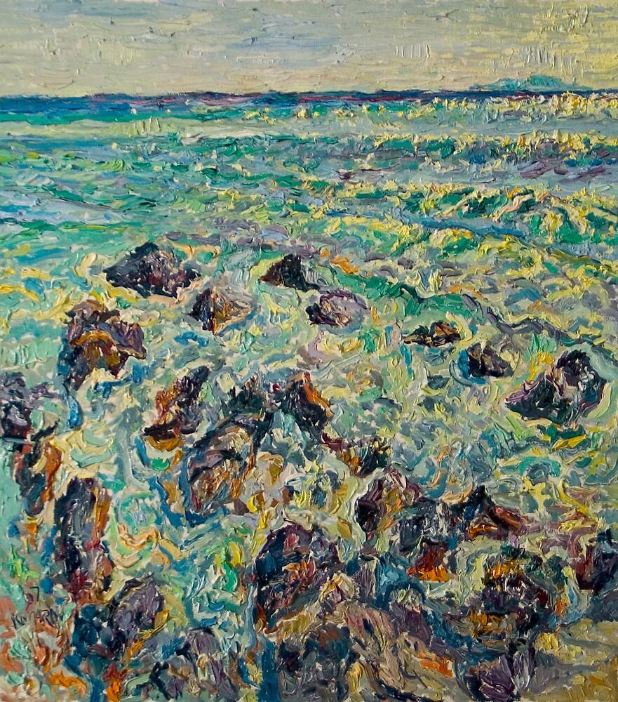 Stones on the sea by Vitali Komarov