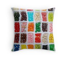 Jelly Beans... Throw Pillow
