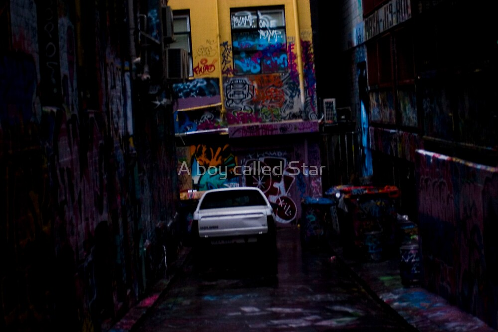 Hosier Lane by A boy called Star