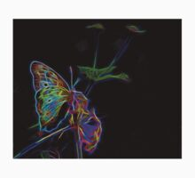 Neon Butterfly Kids Clothes
