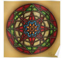 Geo - Star  ''stained glass'' Poster