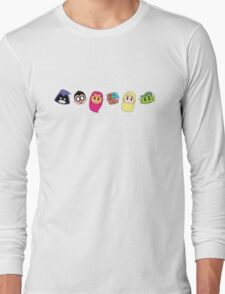 Teen Titan Heads Long Sleeve T-Shirt