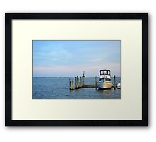 Moriches Yacht Club Marina Detail | Center Moriches, New York Framed Print