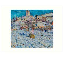 Winter in Moravia. Podivin Art Print