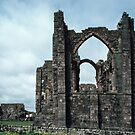 End of ruined monastery church Holy Isle Northumbria England 198405290019 by Fred Mitchell
