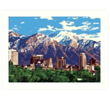 Iconic Salt Lake City Art Print