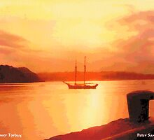 Sunset over Torbay by Peter Sandilands