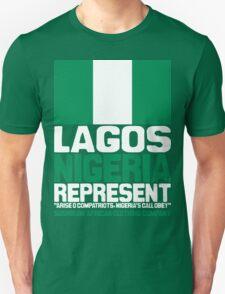 Lagos, Nigeria, represent Unisex T-Shirt