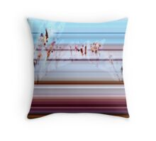 Behind The Foggy Window Throw Pillow