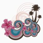 Tropical Waves &amp; Pink Hibiscus by fatfatin