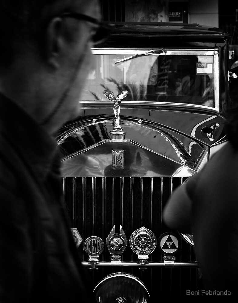 Rolls Royce Old Car Black and White by Boni Febrianda