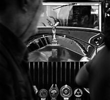 Rolls Royce Old Car Black and White by Boni Febrianda
