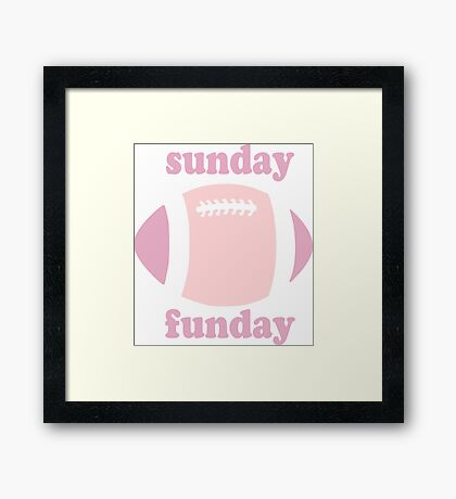 Sunday Funday - pink two tone Framed Print