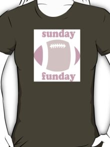 Sunday Funday - pink two tone T-Shirt