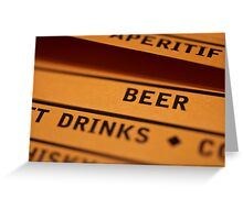 Beer and Drinks Greeting Card