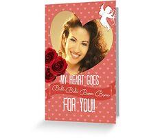 Selena Valentine My Heart Goes... Greeting Card