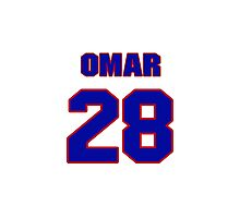 National baseball player Omar Moreno jersey 28 Photographic Print