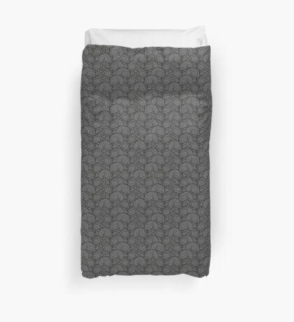 Bed Of Skulls - Dark Grey Duvet Cover