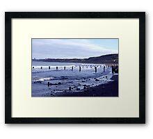 Groynes at Sandsend Framed Print