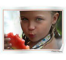 Watermelon Kiss Poster
