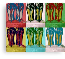 Red Bottom Heels Pop Art Canvas Print