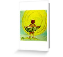 Toweling at the Moon Greeting Card