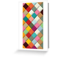 Splendid Color Patches Greeting Card